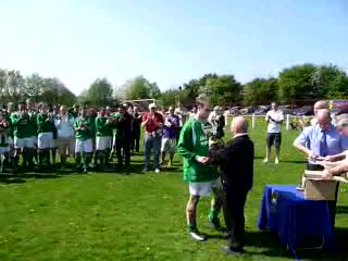 PRESENTATION OF THE DIVISION ONE TROPHY TO SEACOMBE FERRY