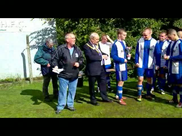 Widnes Cup Final - Presentation to Widnes Parklands pt 2